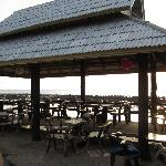 bar/ restaurant area overlooking beach