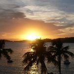 sunset from our room in Virgin Gorda wing