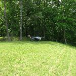 The inn's lawn