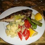 Grilled fresh all inclusive fish!