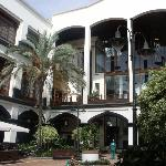 Main hotel courtyard