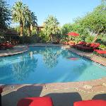 Great, cool pools and desert landscaping