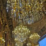 some of the many chandeliers in the Lyon Hotel de Ville