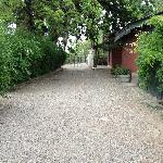 pathway to guest house