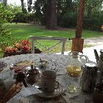 outside breakfast on veranda