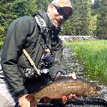 Dan with a Big Brook Trout From the Upper Deschutes