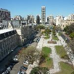 vista de la plaza desde la habitación
