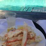 I wanted crab for lunch even though it was on their dinner menu...very accomodating, even pool s