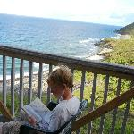 Reading, but the surf is loud (that is a joke)