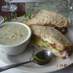 turkey sandwich clam chowder