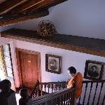 The stairs down to the lobby