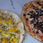 Peach Pizza and Blueberry Pizza