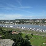 Rochester town and the Medway River