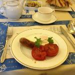 sausage and tomatos