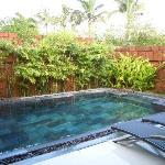 每間房都有一個泳池,完全隱蔽,超讚!