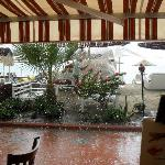 The storm arrived after 6 months - view from restaurant!