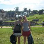 visitando las ruinas