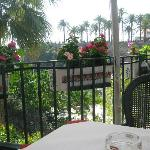 View of Balcon de Europa from our table