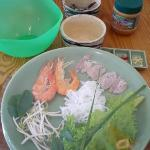 ingredients for spring rolls