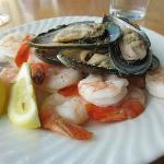 Delicious fresh shrimp and mussels
