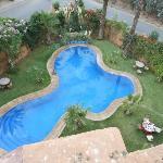 piscine vue du toit terrasse