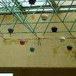 Dodgy plaster on pool walls