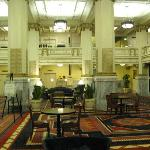 Spacious Restored Old Hotel Lobby