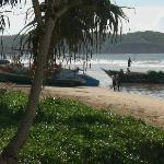 Widok plaży przy Weligama Bay Resort
