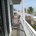 deck on our unit ,the beach view glorious