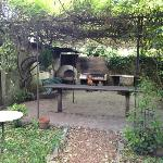 Outdoor kitchen for cooking classes