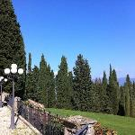 Side view from Villa Campestri terrace