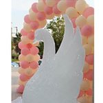 ice sculpture and balloons