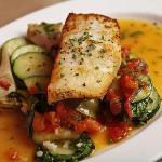 Seasonal Fish with red beets, orange segments, radish, shallots, cilantro & lime juice