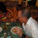 En el Restaurant Buffet. Roberto y Marlen