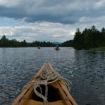 Last Canoe in the train on Umbagog Lake - Carol Savage