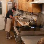 Chef prepares meals for 40 in this kitchen