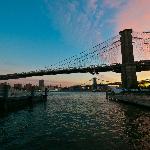 Sunrise over the Brooklyn Bridge