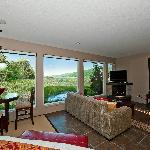 Wetlands Suite overlooking lagoon, bay and mountains