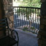 Private balcony area outside our room