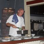 Fool #2 preparing dinner