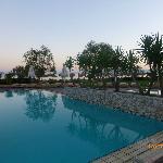 Pool with beach beyond