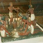 Wooden Funerary Model of Bakery, so the dead wouldn't have to work so hard in after-life, Egypt