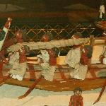 Funerary Model of Sail Boat & Crew to Provide Dead with Transportation in the After-Life, Egypt