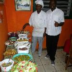 Chef Scottie & our man Christopher prepared a FEAST!!