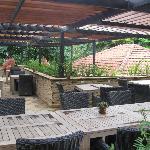 Fine restaurant's terrace