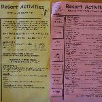 Resort activities
