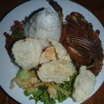 Bebek goreng dan Nasi, rice with fried duck...signature dish