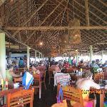 beach dinning area