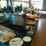 Breakfast buffet during MotoGP.