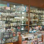 Shop with souvenirs in lobby.